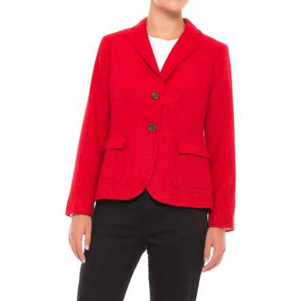 Three-Pocket Wool Blazer (For Women) in Red - 2nds