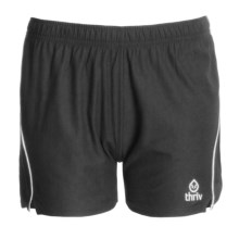 Thriv Mesh Training Shorts - UPF 50+ (For Women) in Gunmetal/White - Closeouts