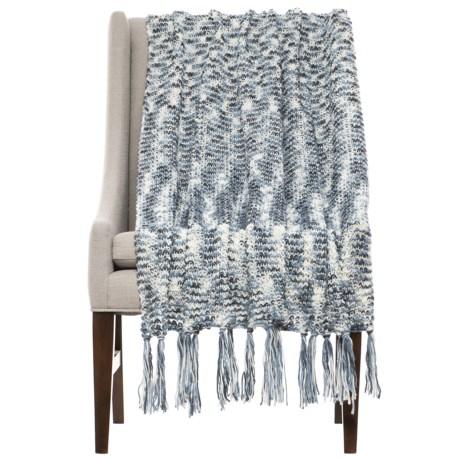 "THRO Ashley Vintage Knit Blanket - 50x60"" in Blue"