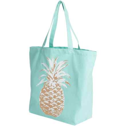 Thro Audrey Pineapple Tote Bag - Cotton in Aqua Sky - Closeouts