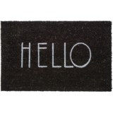 THRO Black-White Hello Door Mat - 18x28""