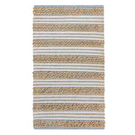 "THRO Brayden Braided Rug - 27x45"" in Blue Multi - Closeouts"