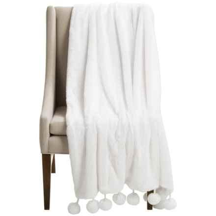 "THRO by Marlo Lorenz Georgina Throw Blanket - 50x60"" in Bright White - Closeouts"
