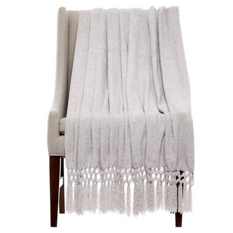 "THRO Dede Vapor Chenille Blanket - 50x60"" in Grey"