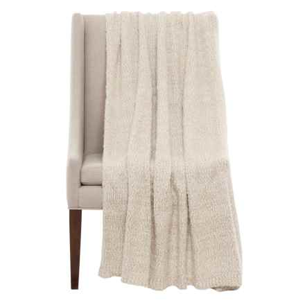 "THRO Elijah Throw Blanket - 50x60"" in Oatmeal/Gold - Closeouts"