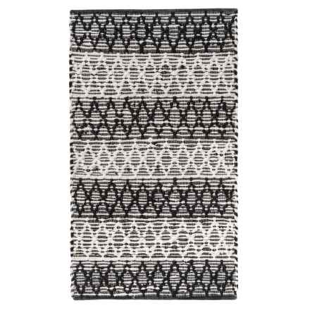 "THRO Georgina Scatter Rug - 27x45"" in Black/White - Closeouts"