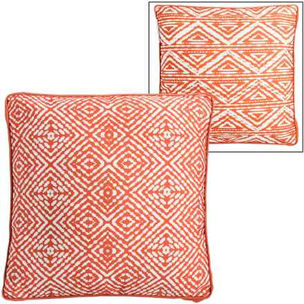 """THRO Gusset Indoor-Outdoor Accent Pillow - 20x20"""" in Koi - Closeouts"""