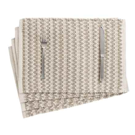 THRO Henry Woven Placemats - Set of 4, Reversible in Oatmeal - Closeouts