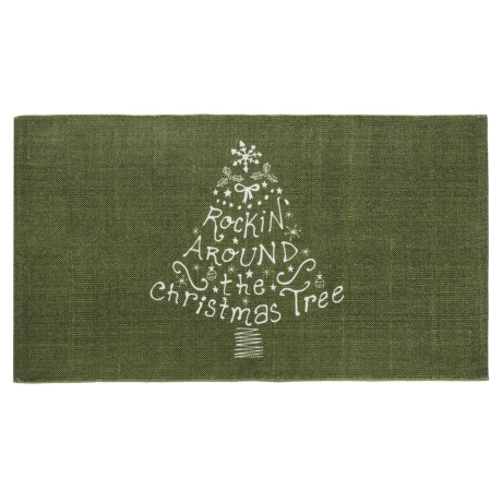 """THRO Holiday Accent Rug - 27x45"""" in Rockin Christmas Tree"""