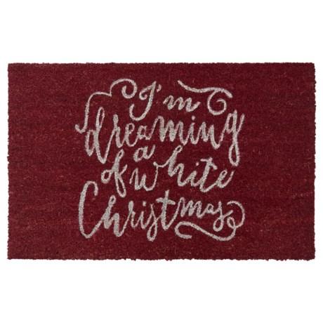 "THRO Holiday Coir Doormat - 18x28"""