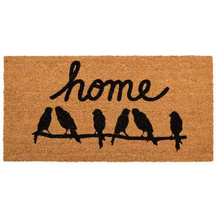 "THRO Home Birds Coir Doormat - 20x40"" in Natural/Black - Closeouts"