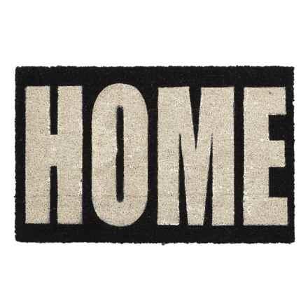 "THRO Home Block-Letter Doormat - 18x28"" in Black - Closeouts"