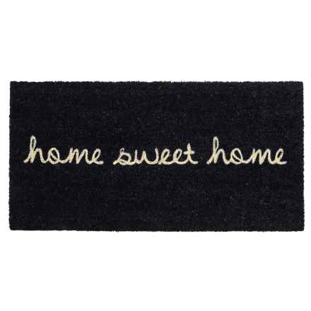 """THRO Home Sweet Home Coir Doormat - 20x40"""" in Black/White - Closeouts"""