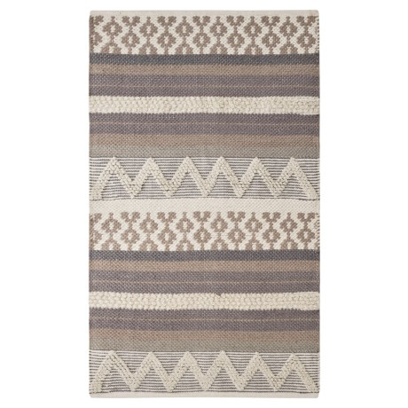 "THRO Jayden Accent Rug - 27x45"", Cotton in Silver"