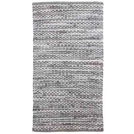 "Thro Jewel Recycled Chindi Accent Rug - 27x45"" in Charcoal - Closeouts"