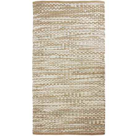 "THRO Jewel Recycled Chindi Accent Rug - 27x45"" in Oatmeal - Closeouts"