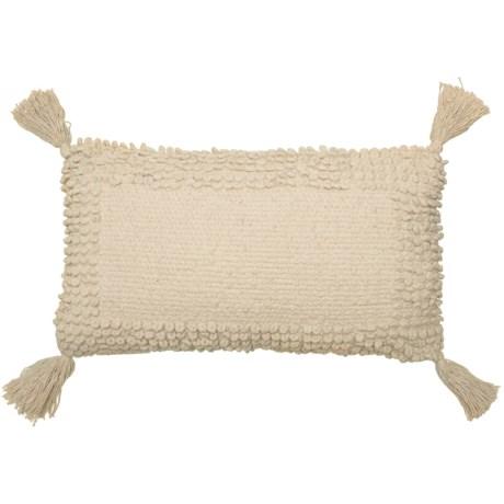 "THRO Lisburn Chenille Tassel  Pillow - 12x20"" in Natural"