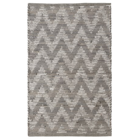 "THRO Melissa Chindi Accent Rug - 27x45"" in Gray Multi"