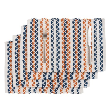 THRO Michael Woven Placemats - Set of 4, Reversible