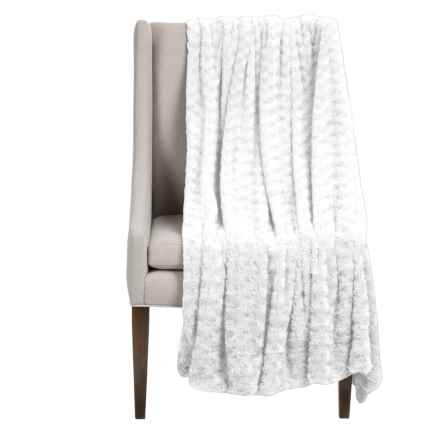 "Thro Ollie Collection Faux-Fur Throw Blanket - 50x60"" in Bright White - Closeouts"