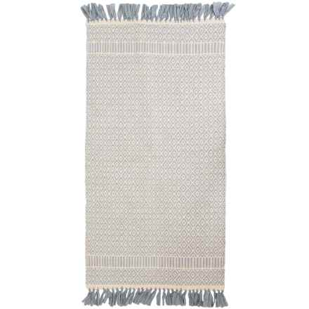 "Thro Perna Handwoven Cotton Accent Rug - 27x45"" in Harbor Grey - Closeouts"
