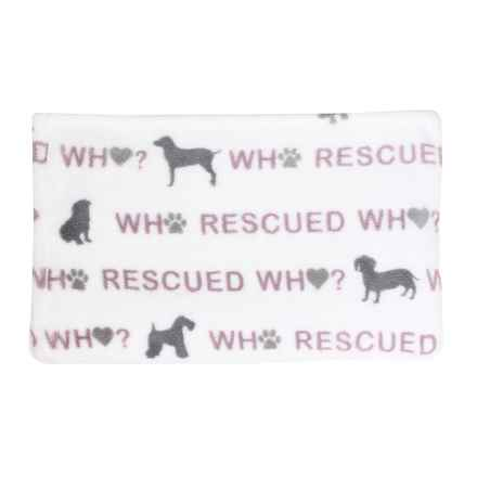 """Thro Rescue Dog Pet Throw Blanket - 50x60"""" in Nirvana Frost Gray - Closeouts"""
