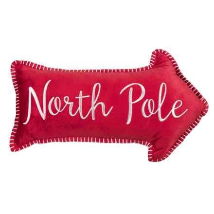 "THRO Velvet North Pole Pillow- 12x20"" in Multi - Closeouts"