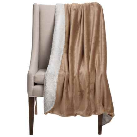 "Thro Vina Collection Sherpa Fleece Throw Blanket - 50x60"" in Amphora - Closeouts"