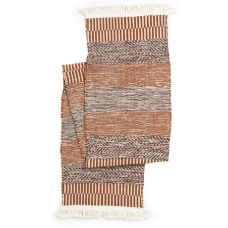 "THRO Woven Table Runner - 14x72"" in Sundried Tomato"