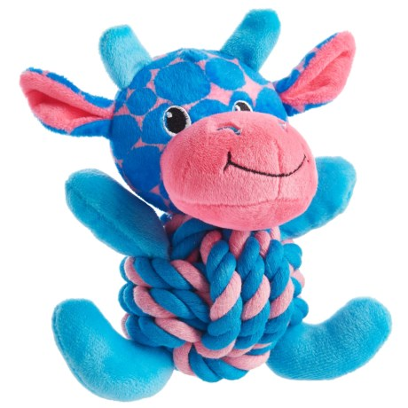 Throw Me A Bone Rope Ball Dog Toy - Hippo in Blue