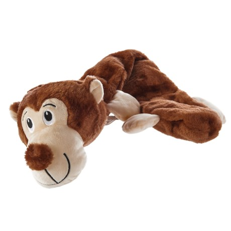 Throw Me A Bone Throw Me a Bone Jumbo Multi-Squeaky Monkey Dog Toy in See Photo
