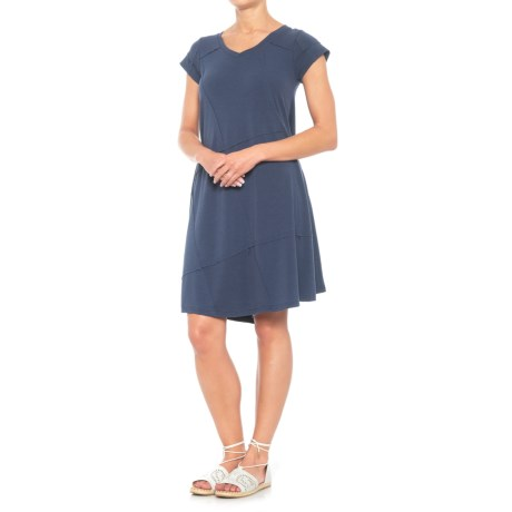 Thyme & Honey Heather Jersey Dress - Short Sleeve (For Women) in Denim Heather