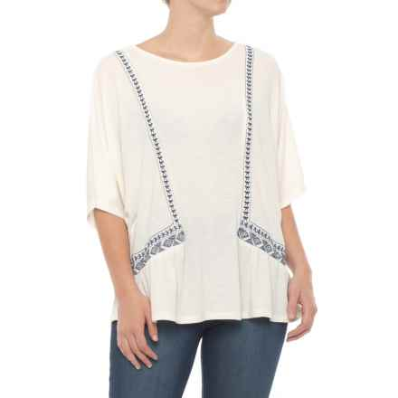 Thyme & Honey Jersey Dolman Shirt - Short Sleeve (For Women) in Eggwhite - Closeouts