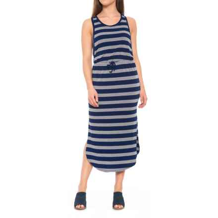Thyme & Honey Striped Maxi Dress - Sleeveless (For Women) in New Navy/Grey Heather - Closeouts
