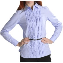 Thyme (x) 2 Garment-Washed Cotton Origami Shirt - Long Sleeve (For Women) in Blue Chambray - Closeouts