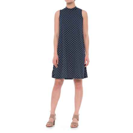 Tiana B Polka-Dot Trapeze Dress - Sleeveless (For Women) in Navy/White - Closeouts