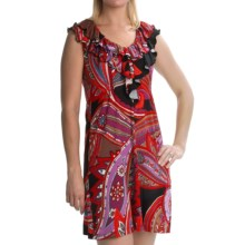 Tiana B Stretch Jersey Dress - Paisley, Sleeveless (For Women) in Multi - Closeouts