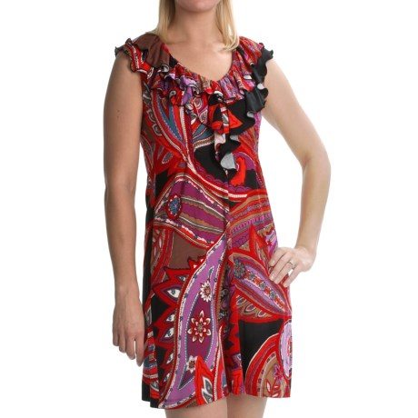 Tiana B Stretch Jersey Dress - Paisley, Sleeveless (For Women) in Multi