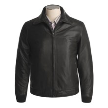 Tibor Leather Jacket - Lambskin, Faux-Fur Collar, Zip-Out Liner (For Men) in Black - Closeouts