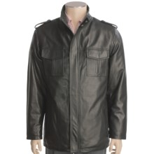 Tibor Leather Lambskin Jacket - Hip Length (For Men) in Black - Closeouts
