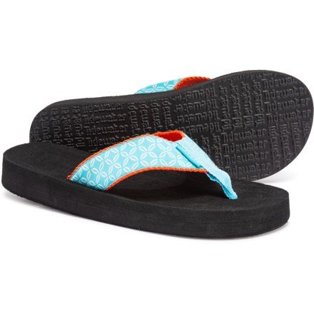 30da0a07c Tidewater Blue Buoy Flip-Flops (For Women) in Blue White
