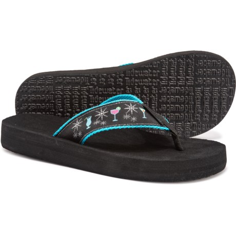 45945ffa1ae7 Tidewater Glamour Cocktail Flip-Flops (For Women) in Turquoise Pink Green