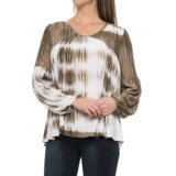 Tie-Dye Stretch Woven Shirt - Long Sleeve (For Women)