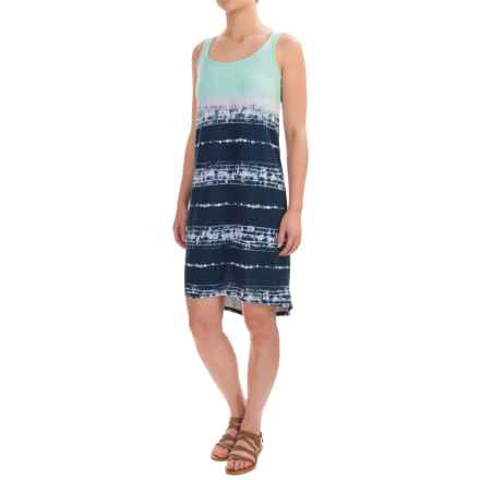 Tie-Dye Tank Dress - Sleeveless (For Women) in Mint/Navy - 2nds