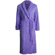 Tie-Front Poly Robe (For Women) in Purple - 2nds
