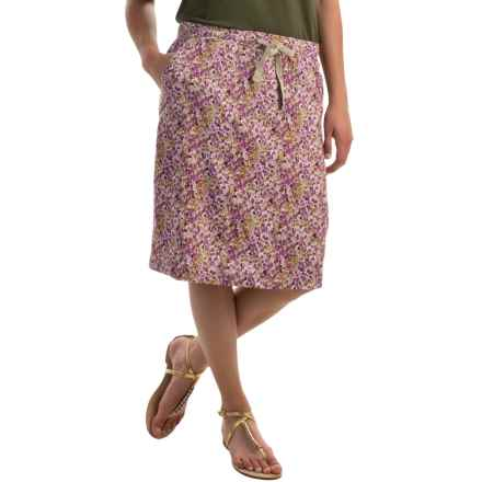 Tie Front Summer Skirt (For Women) in Purple Print - 2nds