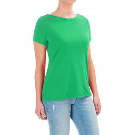 Tie-Shoulder Shirt - Short Sleeve (For Women) in Green - 2nds