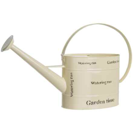 "Tierra Garden ""Garden Time"" Watering Can - 2 Gallon in White - Closeouts"