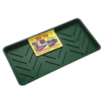 Tierra Garden Boot Tray in Green - Closeouts