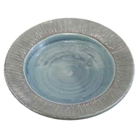 "Tierra Garden Ceramic Bird Bath Bowl - 17"" in Blue - Closeouts"